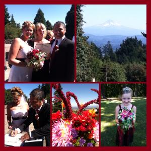 a festive heart wedding